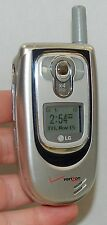 LG VX6100 Verizon Wireless Flip SILVER Cell Phone mobile VGA 4x Zoom Camera ID C