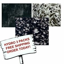 HYDRO DIP HYDROGRAPHIC FILM WATER TRANSFER PRINTING FILM SMOKEY SKULLS 3 PACK