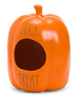Rae Dunn Ceramic TRICK or TREAT Halloween Candy/Decor Pumpkin ~ HTF 2020 Release