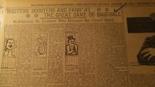 AUG 13, 1899 NEWSPAPER PAGE #J5709- FANS @ THE GREAT GAME OF BASEBALL / ST LOUIS