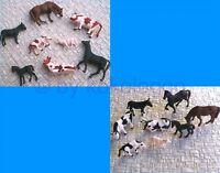 F11+F47 H0- 16 Tiere für Bauernhof Kühe Pferde Esel Schafe 1:87 - Set