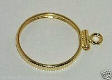 Coin Bezel Frame 18mm x 1.2mm  U.S.DIME Coin Edge 14K Gold Filled Charm No Bail