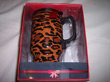 Heated Auto Mug Totes For Her, Lepoard Striped, Holds 16 oz.Stailess Steel Body