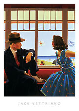 Jack Vettriano Edith and the Kingpin Romance Vintage Print Poster 15.75x19.75