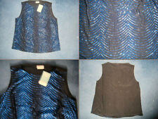 WOMENS NEW BLACK AND BLUE GLITTER VEST TOP. EVANS. SIZE 18/20