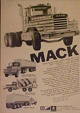 1971 Mack Truck~Rex Mixer~DM800 Tractor MPC Model  Kits Toy Memorabilia Art AD