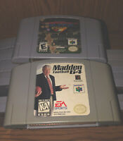 ✅ NFL Blitz 2001 & Madden Football (Nintendo 64) N64 Authentic Tested & Working!