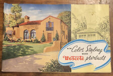 Vintage 1938 Western Auto Ad Booklet Color Styling With Wescote Products Paint