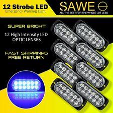 8 x Blue 12 LED Car Truck Emergency Beacon Warning Hazard Flash Strobe Light