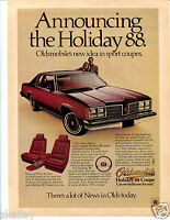 1978 Print Ad of GM Oldsmobile Olds Holiday 88 Sport Coupe