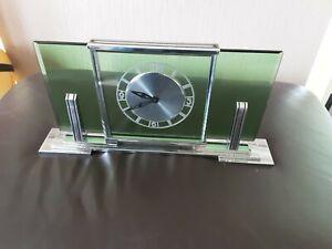 Le Coultre Co (Jaeger)Garrard Case Art Deco Mantle Clock.