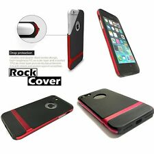 Apple iPhone 5  5S  SE Case Hybrid Flex Rigid Tech 2 Rugged Red By Rock Cover