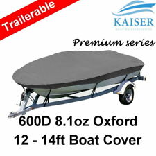 Premium Heavy Duty 600D 12-14ft 3.6-4.2m Marine Grade Trailerable Boat Cover OB