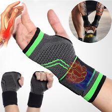 UK Compression Wrist Support Sleeve Hand Brace Gloves Bandage fit Carpal Tunnel