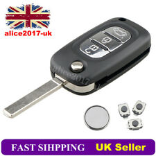 For Renault Clio Kangoo Megane Modus 3 Button Remote Key FOB Repair Kit+ Battery