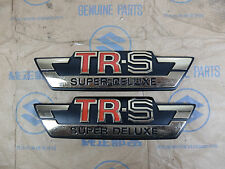 Suzuki TRS TR-S Side Cover Emblem Badge RL Pair NOS Genuine