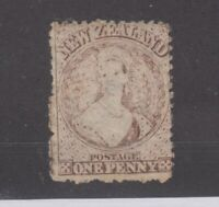 New Zealand QV 1873 1d Brown p12 1/2 Star Worn Plate Fine Used JK2180