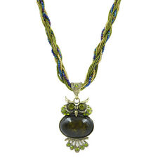 2017 New Vintage Fashion Jewelry Green Crystal Owl Resin Pendant Necklace Gift