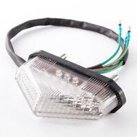 12V Motorcycle Dirt Bike Modified LED Brake Rear Tail Light Signal Lamp White UK