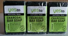 3 Yes to Natural Man Activated Charcoal Bar Soap 7 oz each READ