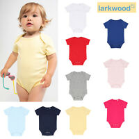 Baby//Toddle Plain Bodysuit T-shirt Boys//girls Babybugz Ringer Bodysuit BZ19