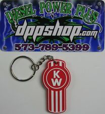 kw kenworth semi truck trucker fob key chain holder logo ring retainer keychain