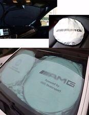For AMG Front Rear Car Window Foldable Sun Shade Shield Cover Visor UV Block