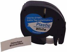 Sonderangbot für Dymo LetraTag letra tag 12mm x 4m Plastic White schwarz weiss