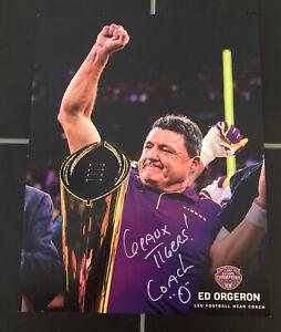 Coach O Ed Orgeron Signed Autographed Auto 8x10 Photo LSU Geaux Tigers