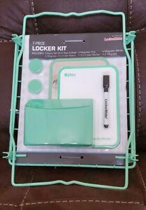 Lockermate 7-Piece Locker Kit Teal Green Storage Organizer