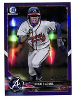 2018 Bowman Chrome Ronald Acuna Jr 232/250 purple refractor rookie card Braves