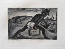 Georges ROUAULT : A pas de géant - GRAVURE ORIGINALE SIGNEE #1955