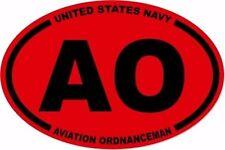 3 X 4.5 OVAL  UNITED STATES  NAVY AO  NAVY AVIATION  ORDNANCEMAN STICKER