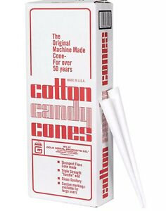 Case Gold Medal Cotton Candy Cones (1,000 ct.) 3021M