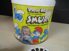 Vintage View Master The Smurfs Deluxe Gift Canister Set w/Flying, Smurfette
