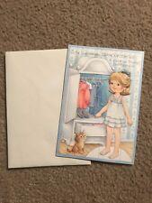Vintage Hallmark Uncut Paperdoll Greeting Card Birthday For Granddaughter