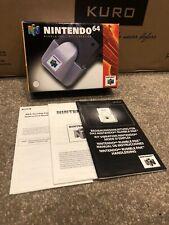 Nintendo 64 N64 Rumble Pak Box And Manuals ONLY VGC