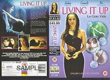 Living It Up La Gran Vida Video Promo Sample Sleeve/Cover #11124