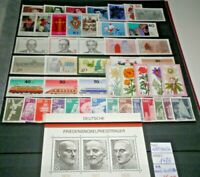 FRANCOBOLLI GERMANIA GERMANY 1975 ANNO COMPLETO FULL YEAR NUOVI MNH** (CAT.4)
