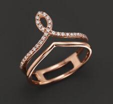 0.64ct NATURAL DIAMOND 14K ROSE GOLD ENGAGEMENT WEDDING  ANNIVERSARY RING
