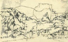 Adrian Hill PROI RBA (1895-1977) - 1975 Charcoal Drawing, Mountain Forms