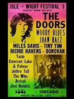 "The Doors Isle of Wight FESTIVAL 1970 16"" x 12"" Photo Repro Concert Poster"