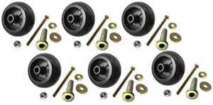 6 USA MADE Exmark Mower Anti Scalp Deck Wheel+KIT 103-3168 103-7263 103-4051