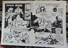 ZEN INTERGALACTIC NINJA #2 PAGES 4 & 5 SPREAD 1993 ORIGINAL COMIC ART-BILL MAUS