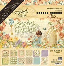 "Graphic 45 ""Secret Garden"" Deluxe Collector's Edition DCE Scrapbooking"