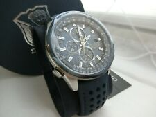 Brand New Citizen Eco Drive Blue Angels World Chronograph Men's Watch AT8020-03L