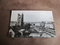 Real Photographic Devon Postcard --St Andrews church & street scene - Plymouth