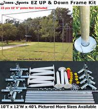 Batting Cage Frame Kit 10' x 12' x 40' EZ UP & DOWN Baseball Softball Frame Kit