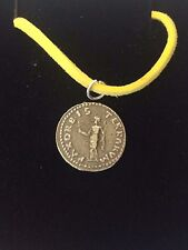 """Denarius Of Otho Roman Coin WC20 Made From Pewter On 18"""" Yellow Cord Necklace"""