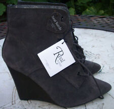 New Look Wedge Suede Lace Up Boots for Women